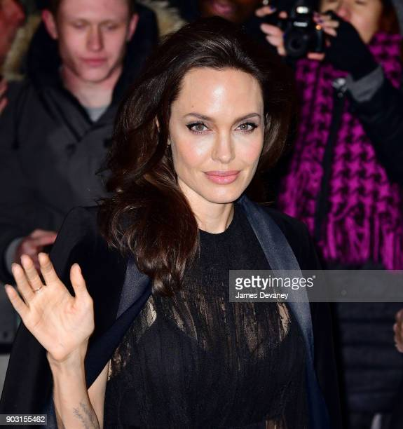 Angelina Jolie arrives at the National Board of Review Annual Awards Gala at Cipriani 42nd Street on January 9 2018 in New York City