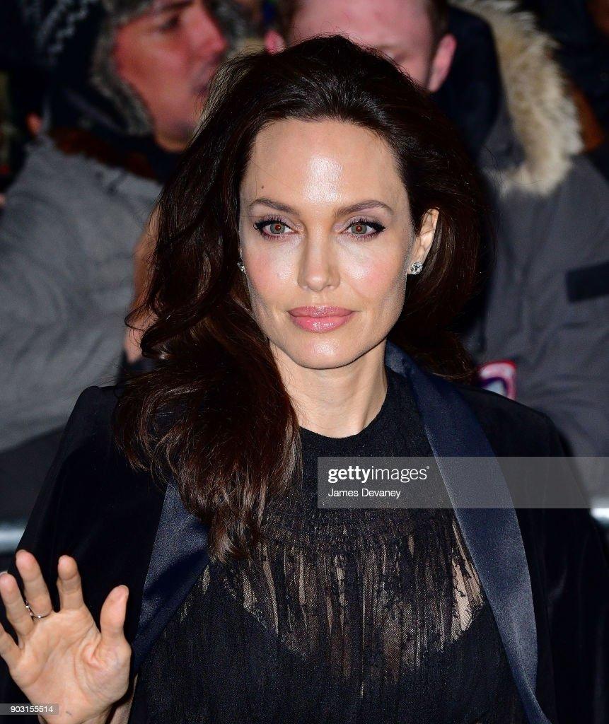 Celebrity Sightings in New York City - January 9, 2018 : Fotografía de noticias