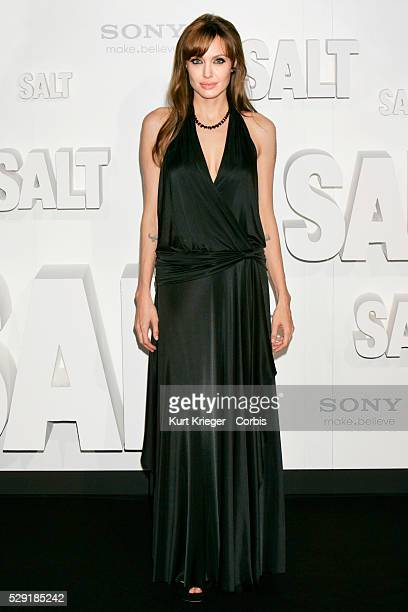 Angelina Jolie arrives at the Salt premiere at the Sony Center Berlin / Germany August 18 2010 ��Kurt Krieger