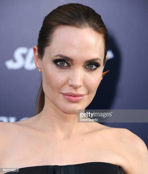 Angelina Jolie arrives at the World Premiere Of Disney's 'Maleficent' at the El Capitan Theatre on May 28 2014 in Hollywood California