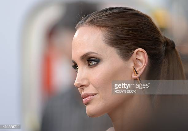 Angelina Jolie arrives for the world premiere of Disney's 'Maleficent' May 28 at El Capitan Theatre in Hollywood California AFP PHOTO / ROBYN BECK