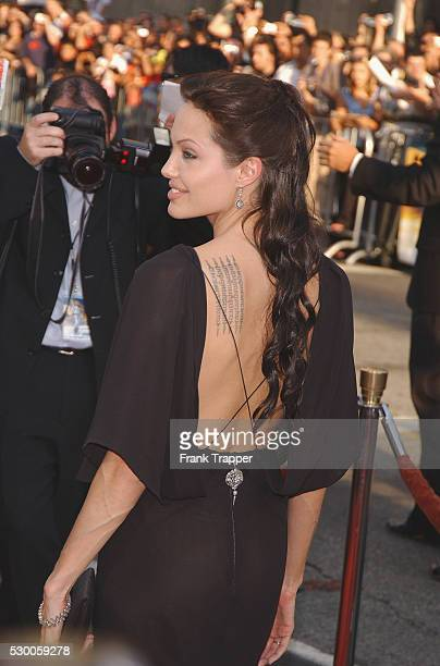Angelina Jolie arriving at the premiere of 'Lara Croft Tomb Raider The Cradle of Life'