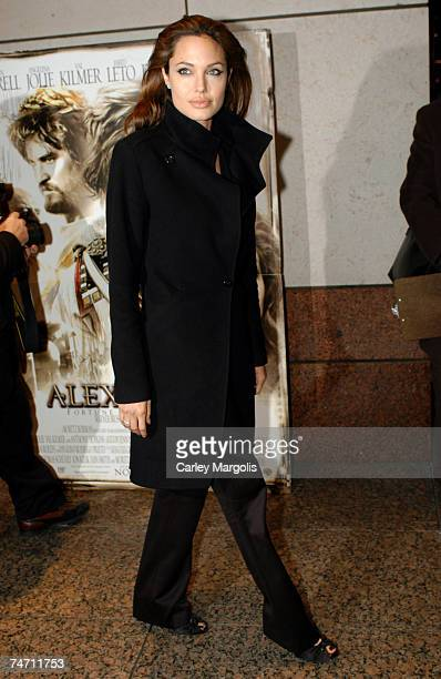 Angelina Jolie at the 'Alexander' New York Premiere at Walter Reade Theater in New York City New York