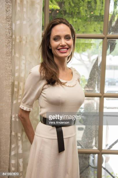 Angelina Jolie at the 'First They Killed My Father' Press Conference at the Four Seasons Hotel on August 25 2017 in Beverly Hills California