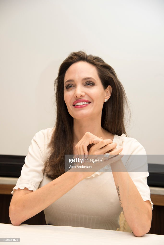 Angelina Jolie at the 'First They Killed My Father' Press Conference at the Four Seasons Hotel on August 25, 2017 in Beverly Hills, California.