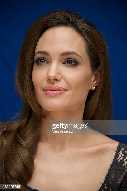 Angelina Jolie at the 'In The Land Of Blood And Honey' Press Conference at the Four Seasons Hotel on December 8 2011 in Beverly Hills California