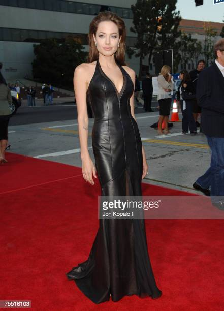 Angelina Jolie at the 'Mr Mrs Smith' Los Angeles Premiere at Mann's Westwood in Westwood California