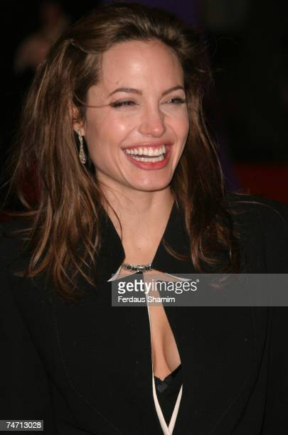 Angelina Jolie at the Odeon Leicester Square in London United Kingdom