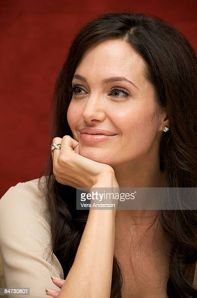Angelina Jolie at the The Changeling press conference at the Waldorf Astoria Hotel on October 3 2008 in New York City New York
