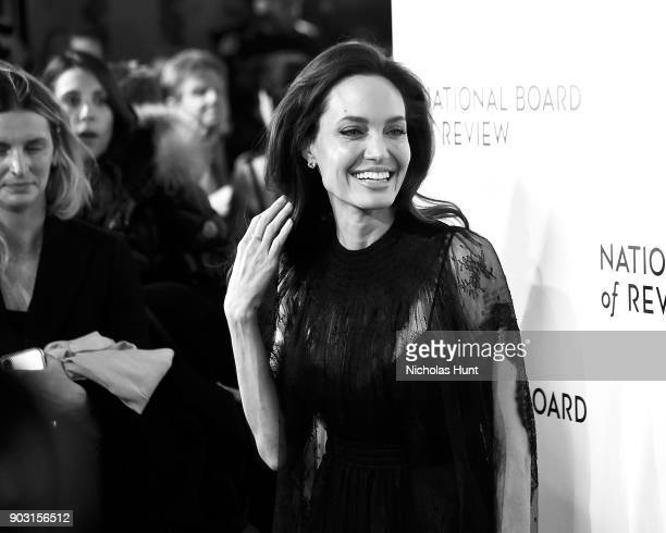 Angelina Jolie attend the 2018 National Board Of Review Awards Gala at Cipriani 42nd Street on January 9 2018 in New York City
