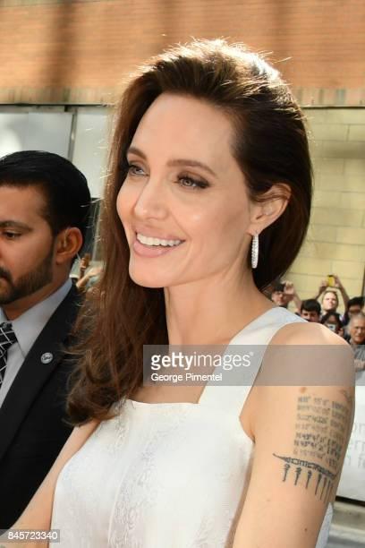 Angelina Jolie attends 2017 Toronto International Film Festival The Breadwinner Premiere at Winter Garden Theatre on September 10 2017 in Toronto...