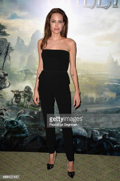 Angelina Jolie attends a photo call for the film 'Maleficent' at Hotel Bristol on May 6 2014 in Paris France