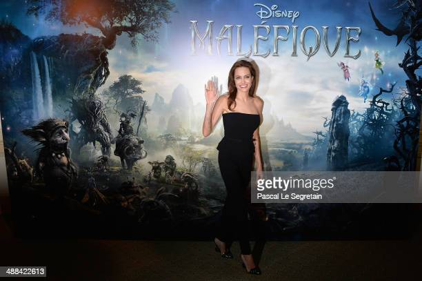 "Angelina Jolie attends a photo call for the film ""Maleficent"" at Hotel Bristol on May 6, 2014 in Paris, France."