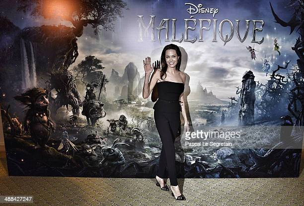 """Angelina Jolie attends a photo call for the film """"Maleficent"""" at Hotel Bristol on May 6, 2014 in Paris, France."""