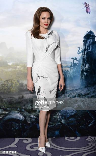 Angelina Jolie attends a photocall for 'Maleficent' held at the Corinthia Hotel London on May 9 2014 in London England