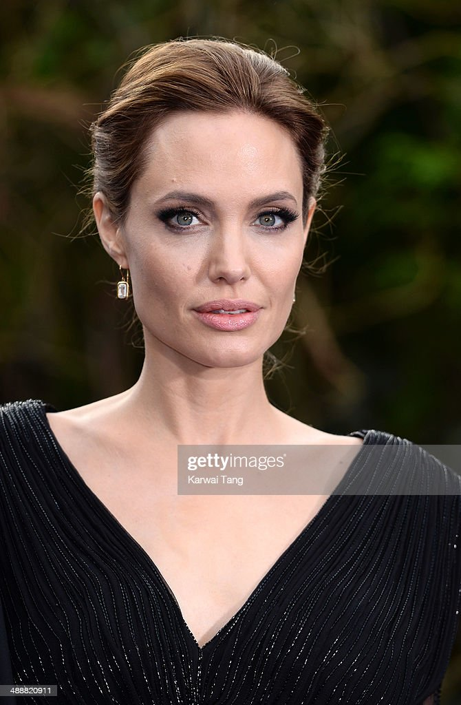 Angelina Jolie attends a private reception as costumes and props from Disney's 'Maleficent' are exhibited in support of Great Ormond Street Hospital held at Kensington Palace on May 8, 2014 in London, England.