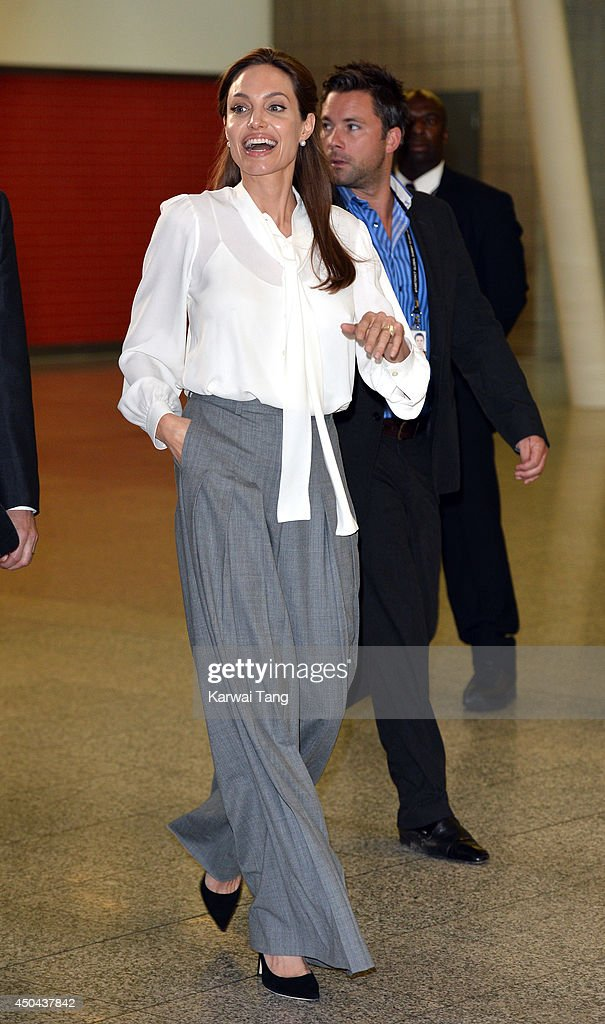 Angelina Jolie attends a special screening of 'The Land of Blood and Honey' during the Global Summit to end Sexual Violence in Conflict at ExCel on June 11, 2014 in London, England.