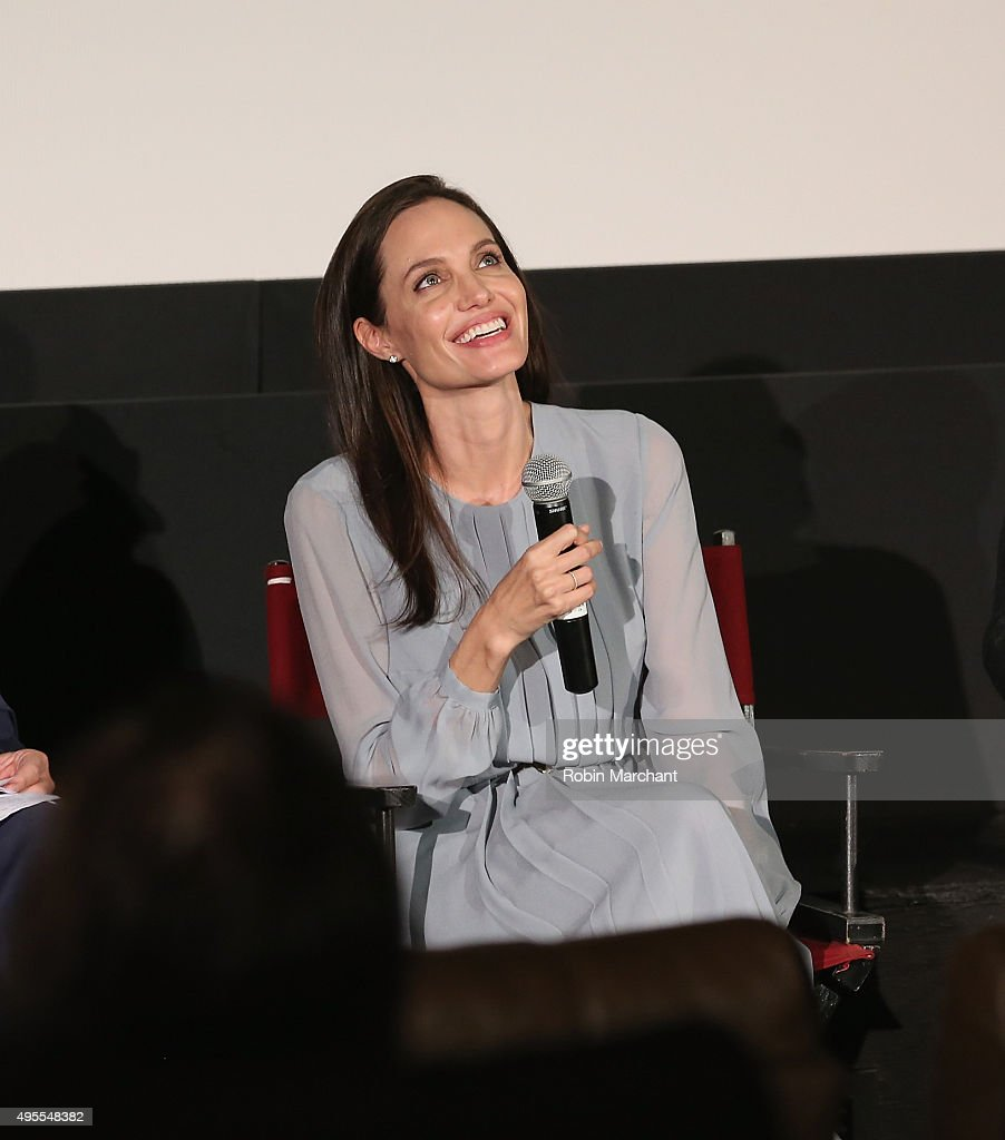 Angelina Jolie attends an official Academy Screening of BY THE SEA hosted by The Academy Of Motion Picture Arts And Sciences on November 3, 2015 in New York City.