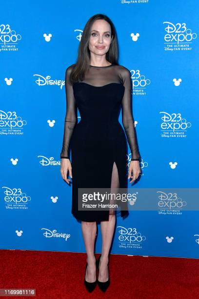 Angelina Jolie attends Go Behind The Scenes with Walt Disney Studios during D23 Expo 2019 at Anaheim Convention Center on August 24 2019 in Anaheim...
