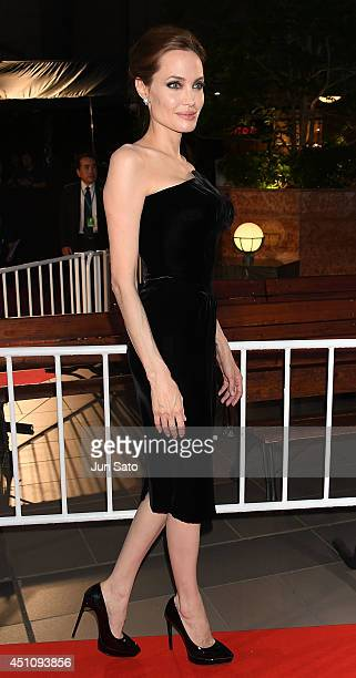 Angelina Jolie attends 'Maleficent' Japan premiere at Ebisu Garden Place on June 23 2014 in Tokyo Japan