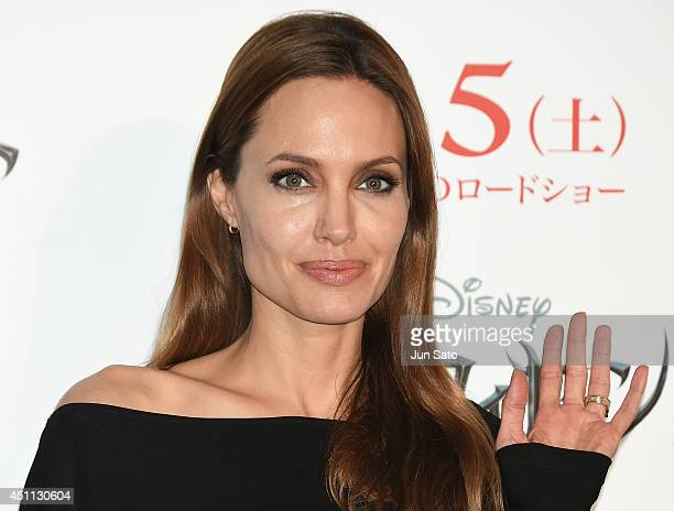 Angelina Jolie attends 'Maleficent' press conference for Japan premiere at Grand Hyatt Tokyo on June 24 2014 in Tokyo Japan