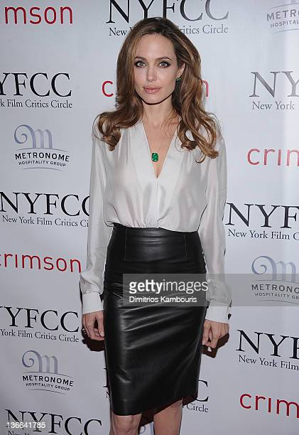 Angelina Jolie attends the 2011 New York Film Critics Circle awards at Crimson on January 9, 2012 in New York City.