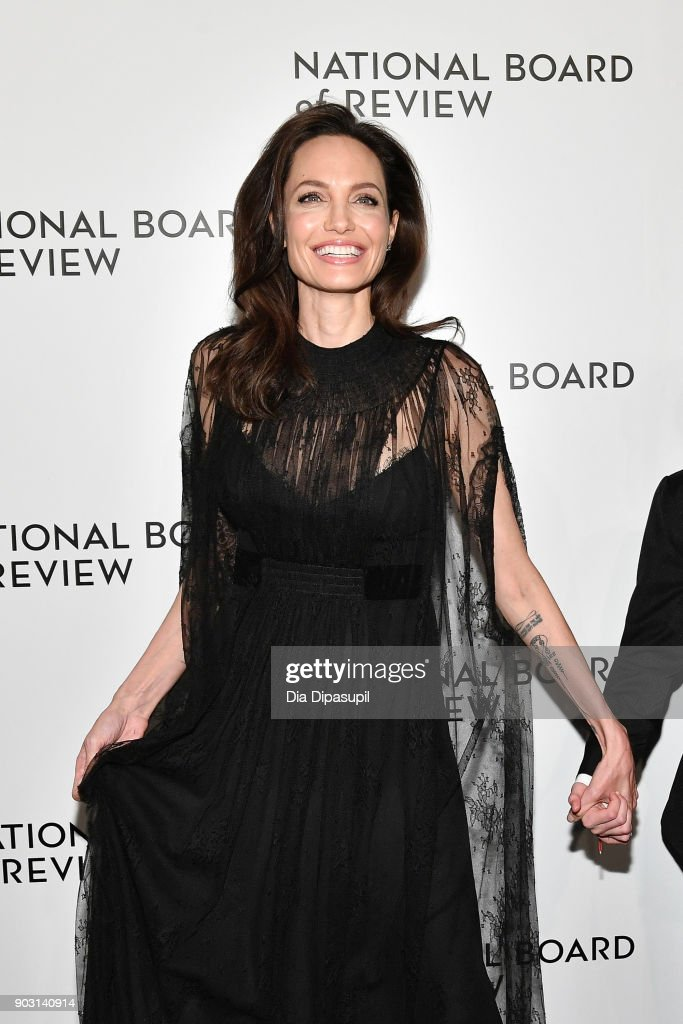 Angelina Jolie attends the 2018 National Board of Review Awards Gala at Cipriani 42nd Street on January 9, 2018 in New York City.