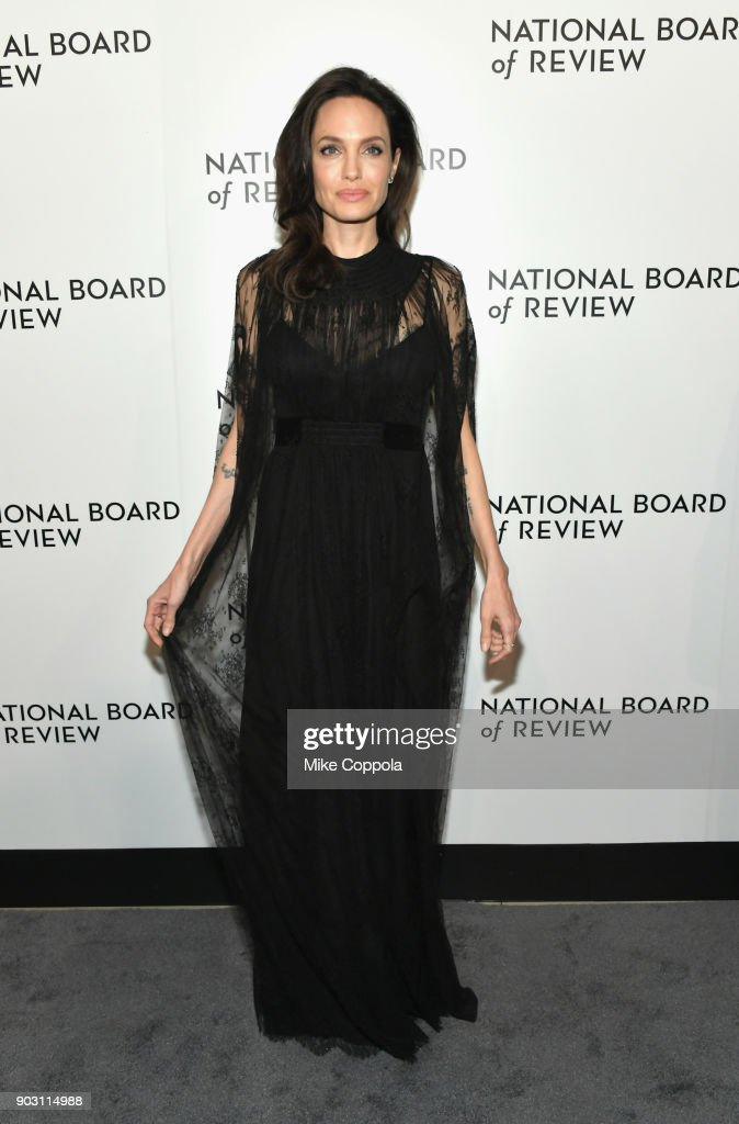Angelina Jolie attends the 2018 The National Board Of Review Annual Awards Gala at Cipriani 42nd Street on January 9, 2018 in New York City.