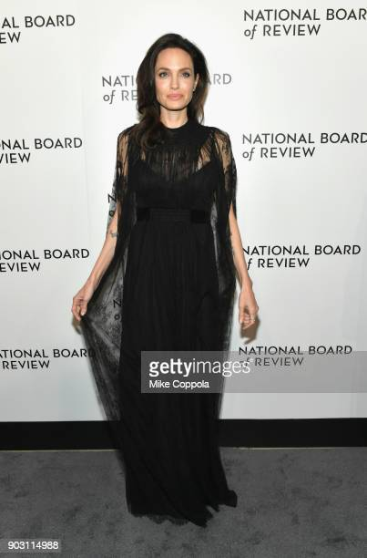 Angelina Jolie attends the 2018 The National Board Of Review Annual Awards Gala at Cipriani 42nd Street on January 9 2018 in New York City