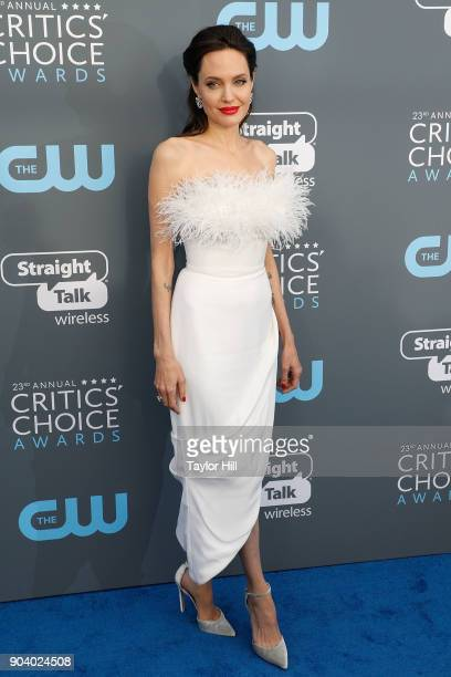 Angelina Jolie attends the 23rd Annual Critics' Choice Awards at Barker Hangar on January 11 2018 in Santa Monica California