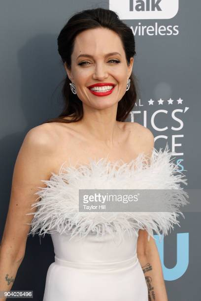 Angelina Jolie attends the 23rd Annual Critics' Choice Awards at Barker Hangar on January 11 2018 in Santa Monica California