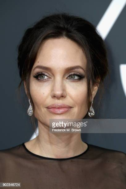Angelina Jolie attends The 75th Annual Golden Globe Awards at The Beverly Hilton Hotel on January 7 2018 in Beverly Hills California
