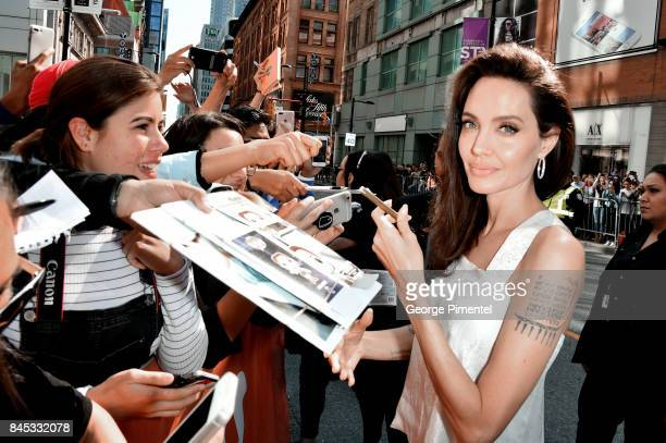 Angelina Jolie attends 'The Breadwinner' premiere during the 2017 Toronto International Film Festival at Winter Garden Theatre on September 10 2017...