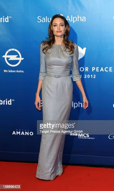 Angelina Jolie attends the 'Cinema For Peace Gala' during day five of the 62nd International Film Festival on February 13, 2012 in Berlin, Germany.