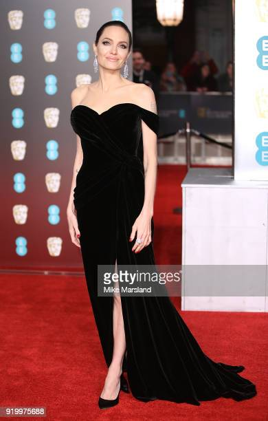 Angelina Jolie attends the EE British Academy Film Awards held at Royal Albert Hall on February 18 2018 in London England