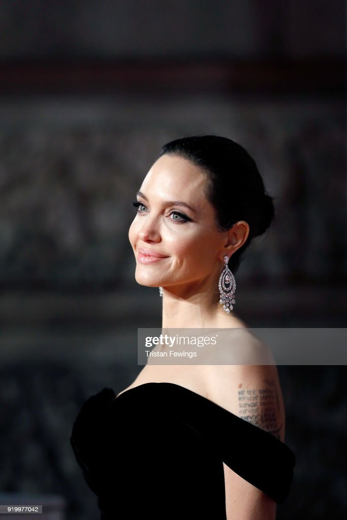 Angelina Jolie attends the EE British Academy Film Awards (BAFTA) held at Royal Albert Hall on February 18, 2018 in London, England.
