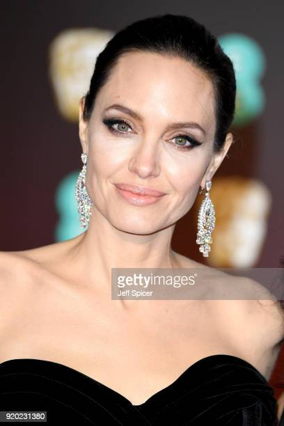Angelina Jolie attends the EE British Academy Film Awards held at Royal Albert Hall on February 18, 2018 in London, England.