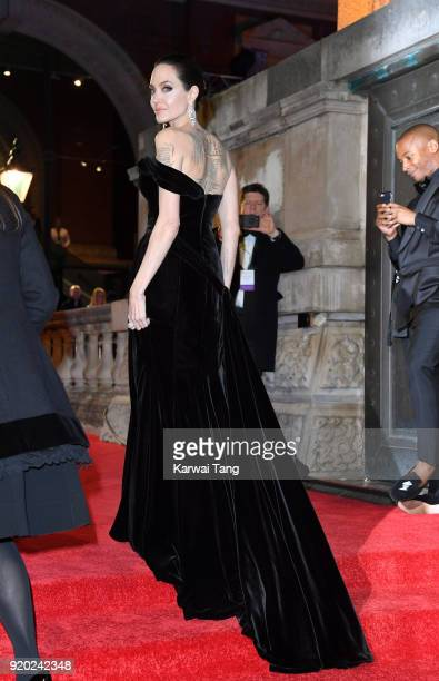 Angelina Jolie attends the EE British Academy Film Awards held at the Royal Albert Hall on February 18 2018 in London England