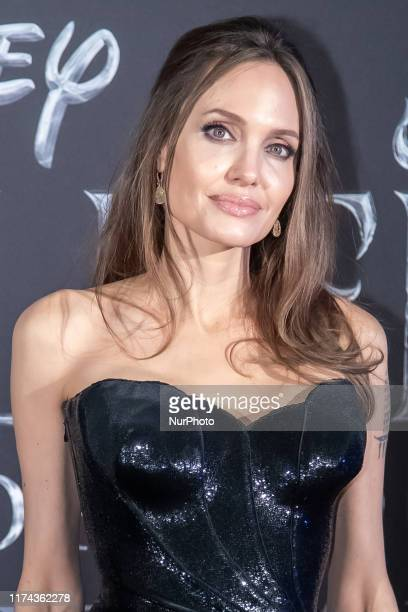 Angelina Jolie attends the european premiere of the movie ''Maleficent - Mistress Of Evil'' at Auditorium della Conciliazione on October 07, 2019 in...