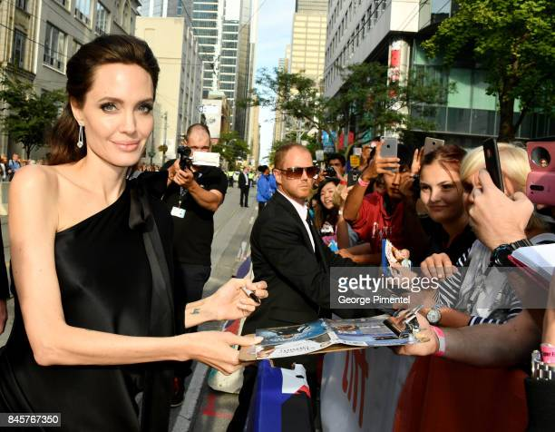 Angelina Jolie attends the 'First They Killed My Father' premiere during the 2017 Toronto International Film Festival at Princess of Wales Theatre on...