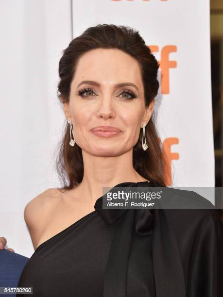 Angelina Jolie attends the First They Killed My Father premiere during the 2017 Toronto International Film Festival at Princess of Wales Theatre on...
