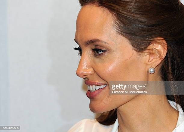 Angelina Jolie attends the Global Summit to End Sexual Violence in Conflict at ExCel on June 11 2014 in London England The fourday conference on...