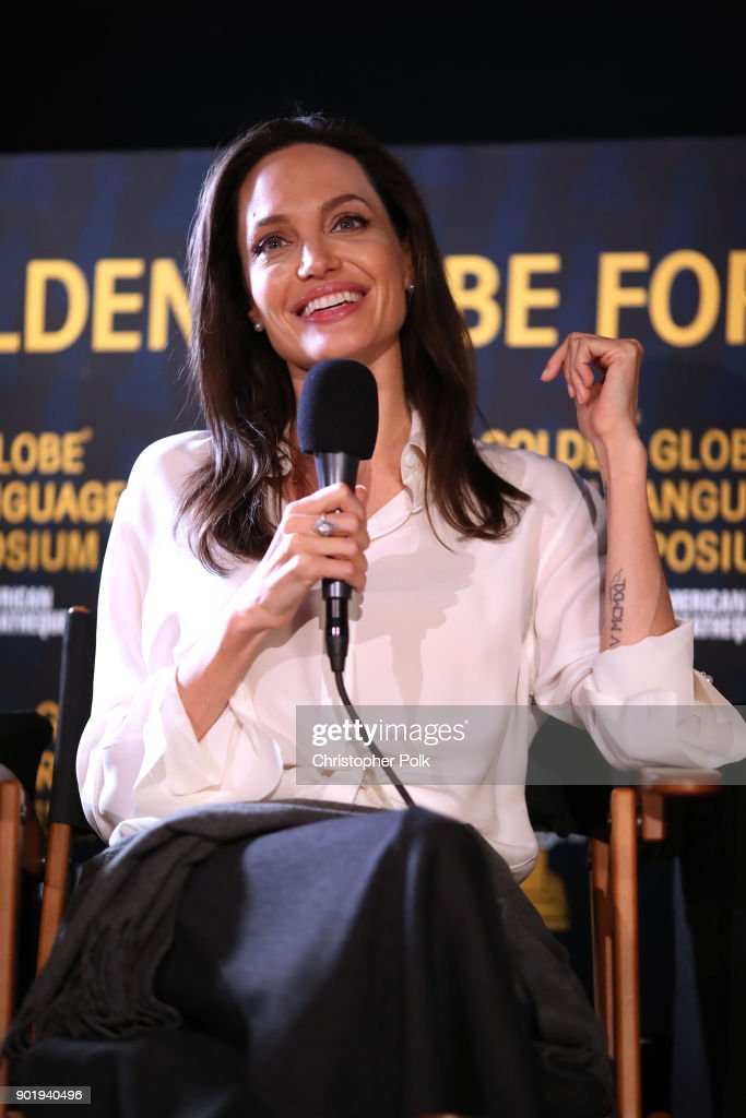 Angelina Jolie attends the HFPA and American Cinematheque