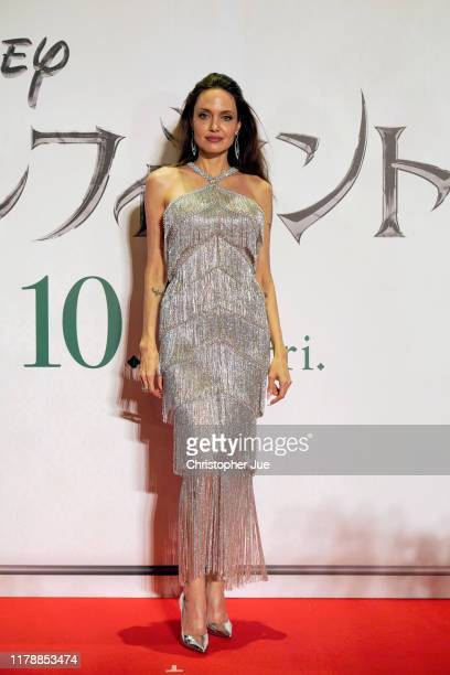 Angelina Jolie attends the Japan premiere of 'Maleficent: Mistress of Evil' on October 03, 2019 in Tokyo, Japan.
