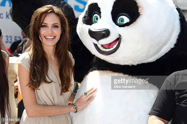 Angelina Jolie attends the 'Kung Fu Panda 2' Photocall during the 64th Cannes Film Festival at the Carlton Hotel on May 12 2011 in Cannes France