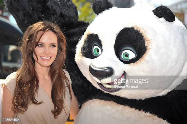 Angelina Jolie attends the 'Kung Fu Panda II' Photocall during the 64th Cannes Film Festival at the Carlton Hotel on May 12 2011 in Cannes France