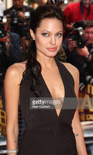 Angelina Jolie Attends The Lara Croft And The Cradle Of Life Tomb Raider 2 Premiere In London's Leicester Square