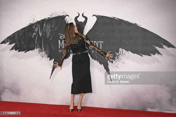 "Angelina Jolie attends the ""Maleficent: Mistress Of Evil"" photocall at the Mandarin Oriental Hotel on October 10, 2019 in London, England."