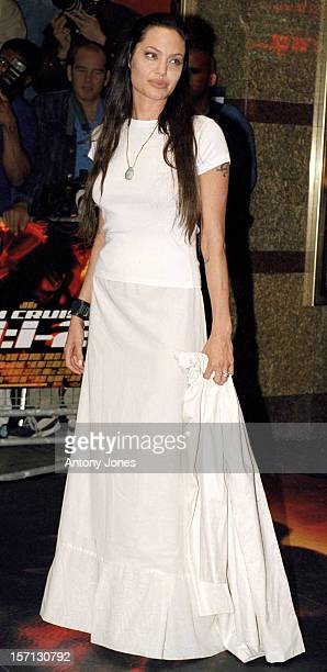 Angelina Jolie Attends The 'MissionImpossible2' Premiere In London'S West End