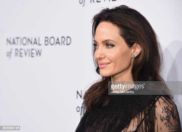 Angelina Jolie attends The National Board Of Review Annual Awards Gala at Cipriani 42nd Street on January 9 2018 in New York City